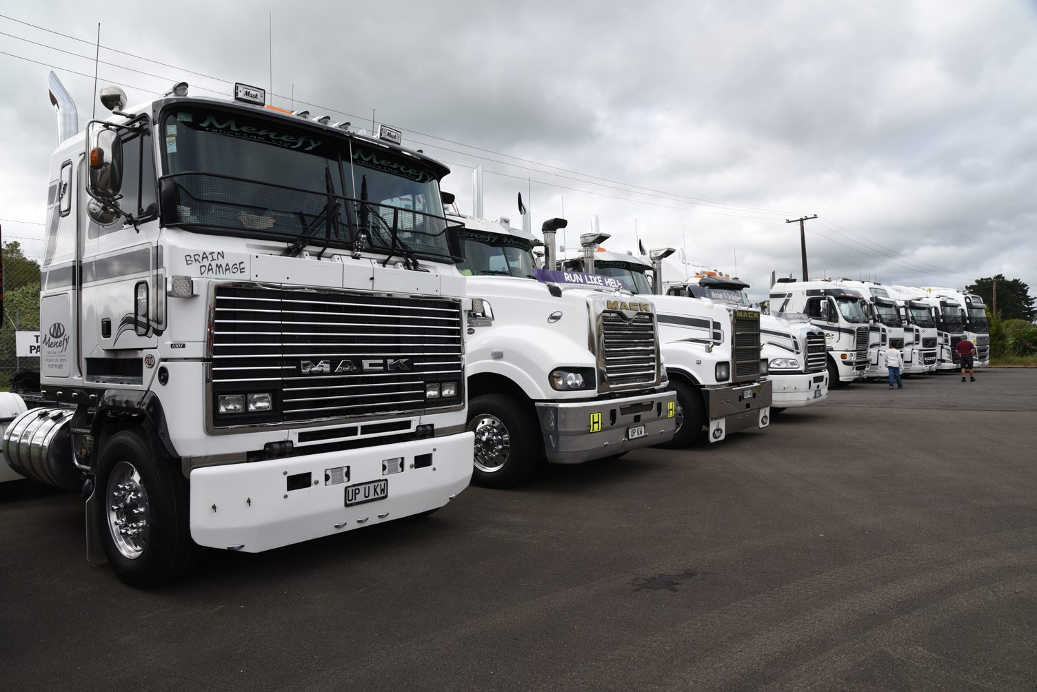 A row of Menefy Transport trucks that took home the fleet award
